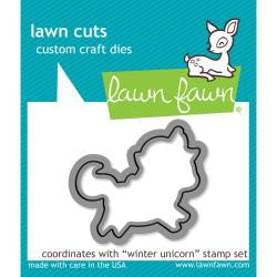 Lawn Fawn Die [Stamp & Die - PART] - Winter Unicorn