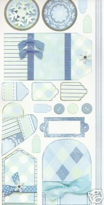 Bo Bunny Cardstock Stickers - [Collection] - Winter Chill Tag