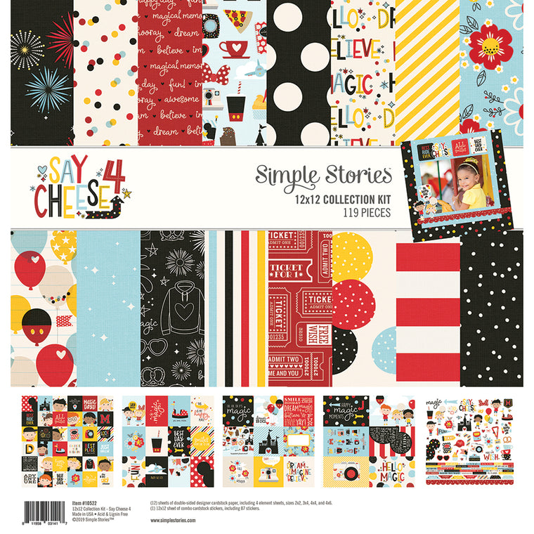 Simple stories 12x12 SAY CHEESE 4 collection kit