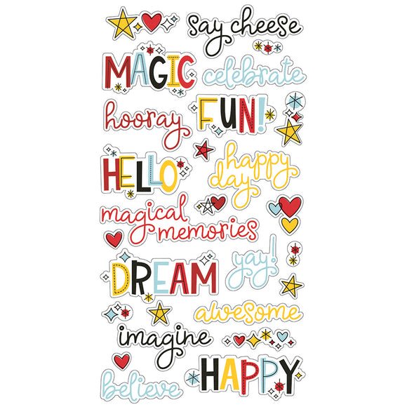 Simple stories SAY CHEESE 4   CHIPBOARD WORD STICKERS