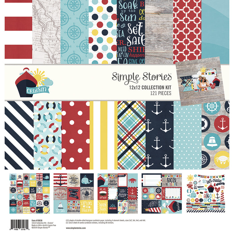 Simple stories 12x12 CRUISIN collection kit