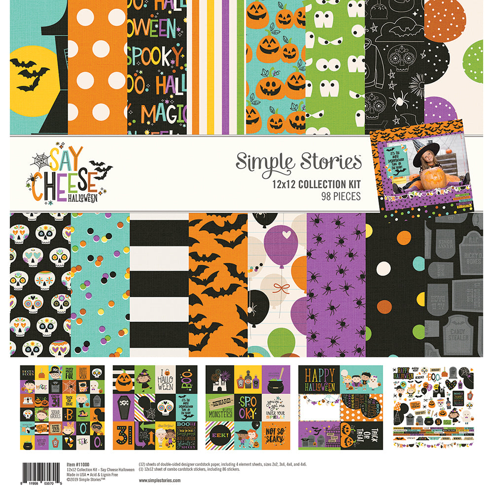 Simple stories 12x12 SAY CHEESE HALLOWEEN collection kit