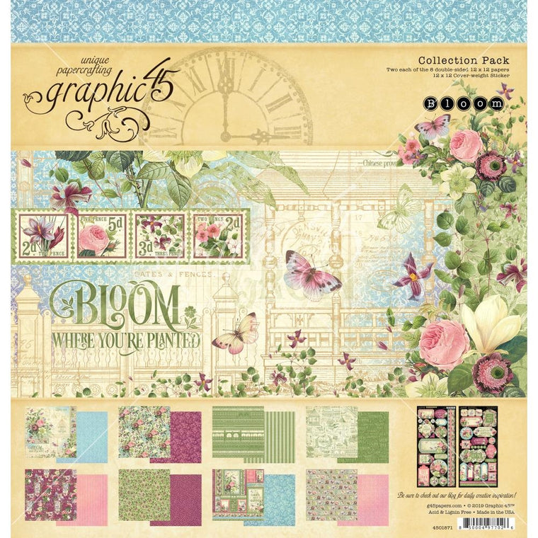 Graphic 45 12x12 collection pack BLOOM
