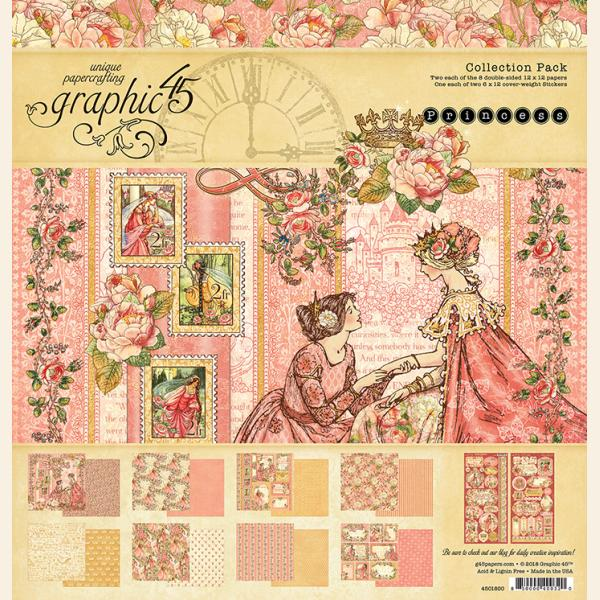 Graphic 45 12x12 collection pack PRINCESS