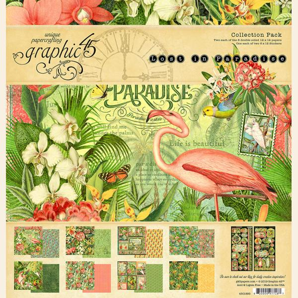 Graphic 45 12x12 collection pack LOST IN PARADISE