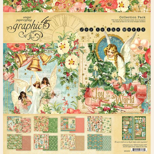Graphic 45 8 x 8 collection pack JOY TO THE WORLD