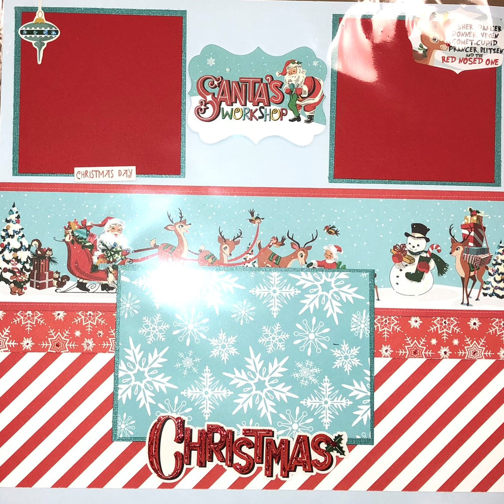 8 PAGE HOLIDAY SCRAPBOOK LAYOUT KIT