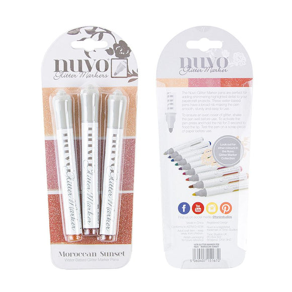 Nuvo Glitter Markers - Moroccan Sunset 3 pack