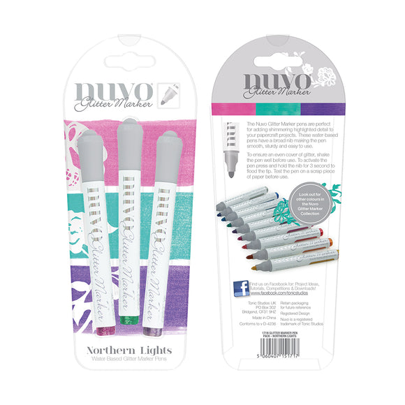 Nuvo Glitter Markers - Northern Lights  3 pack