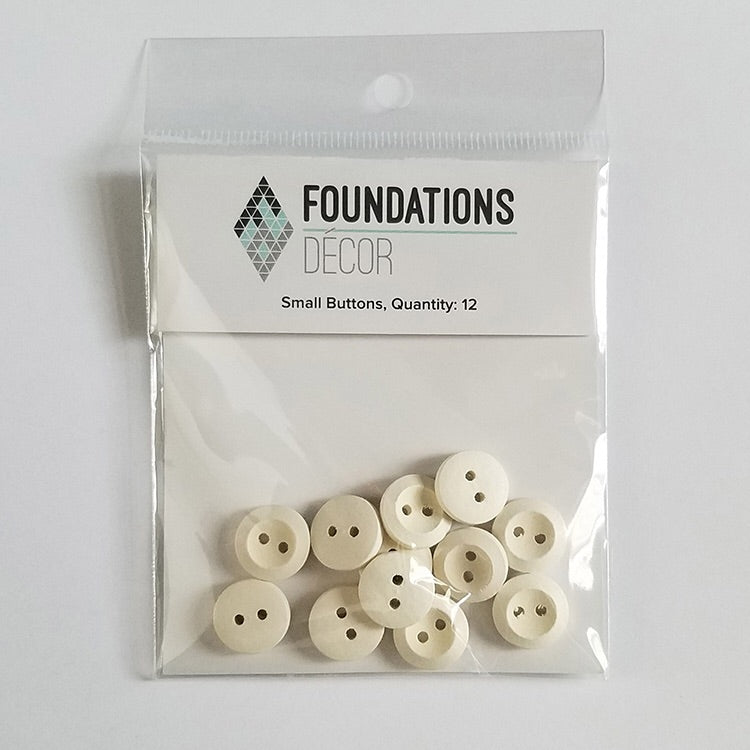 Foundations Decor White Small Buttons