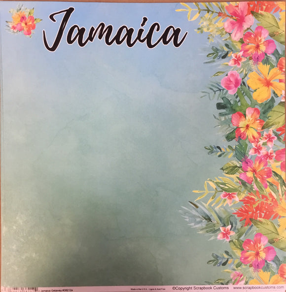 Jamaica 12x12 single sheet
