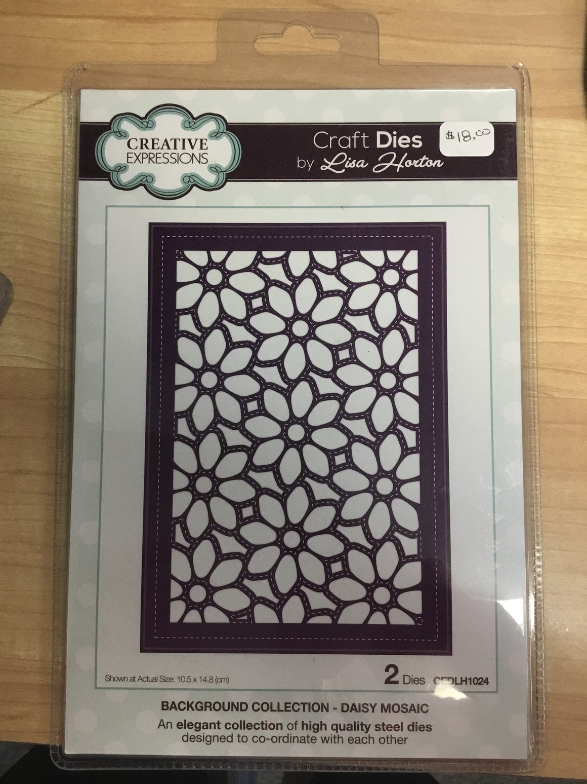 Creative Expressions Craft Dies - background collection daisy mosaic