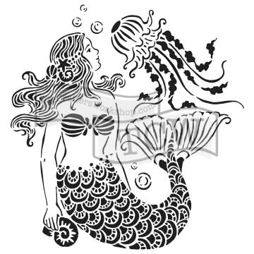 "6x6"" stencil - Mermaid Dreams"