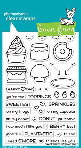 Lawn Fawn photopolymer clear stamps-sweet friends