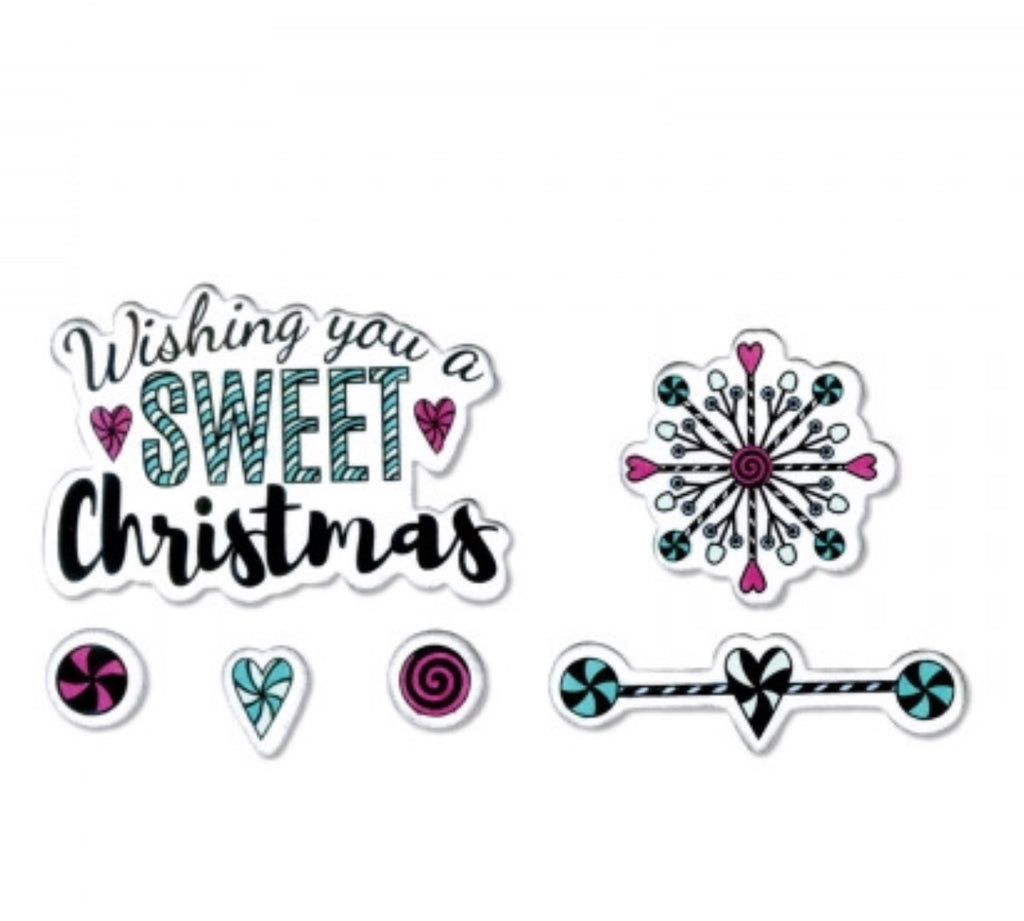 Sizzix Framelits with stamps- Wishing you a sweet Christmas
