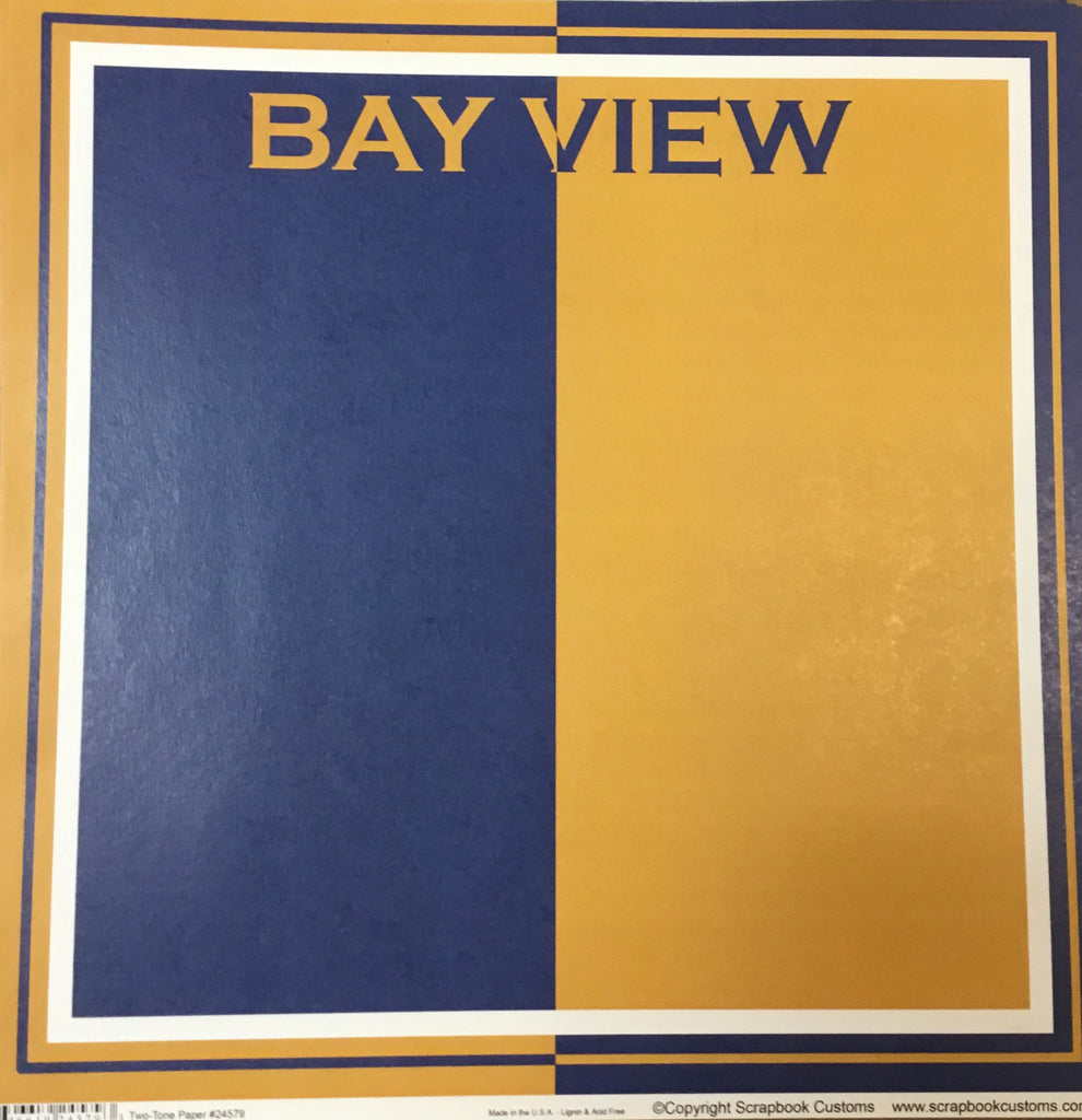 Bay view Academy two-tone paper