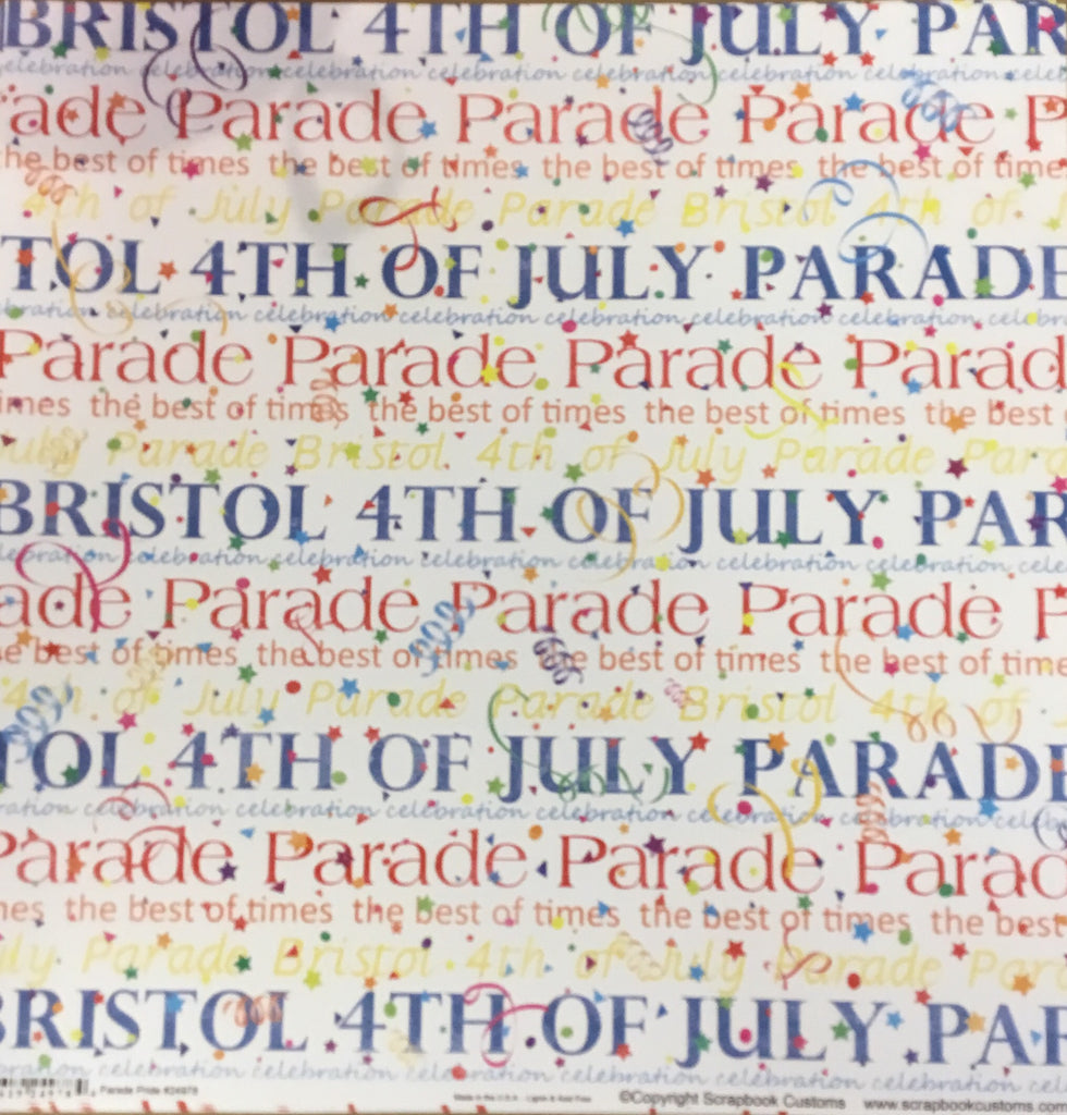 Bristol 4th of July parade pride paper