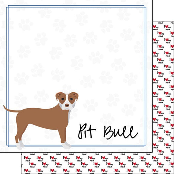 12x12 Pitbull paper single sheet