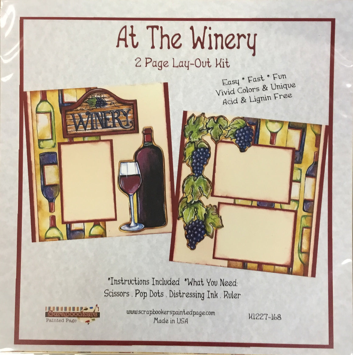12x12 2 page layout kit At the Winery
