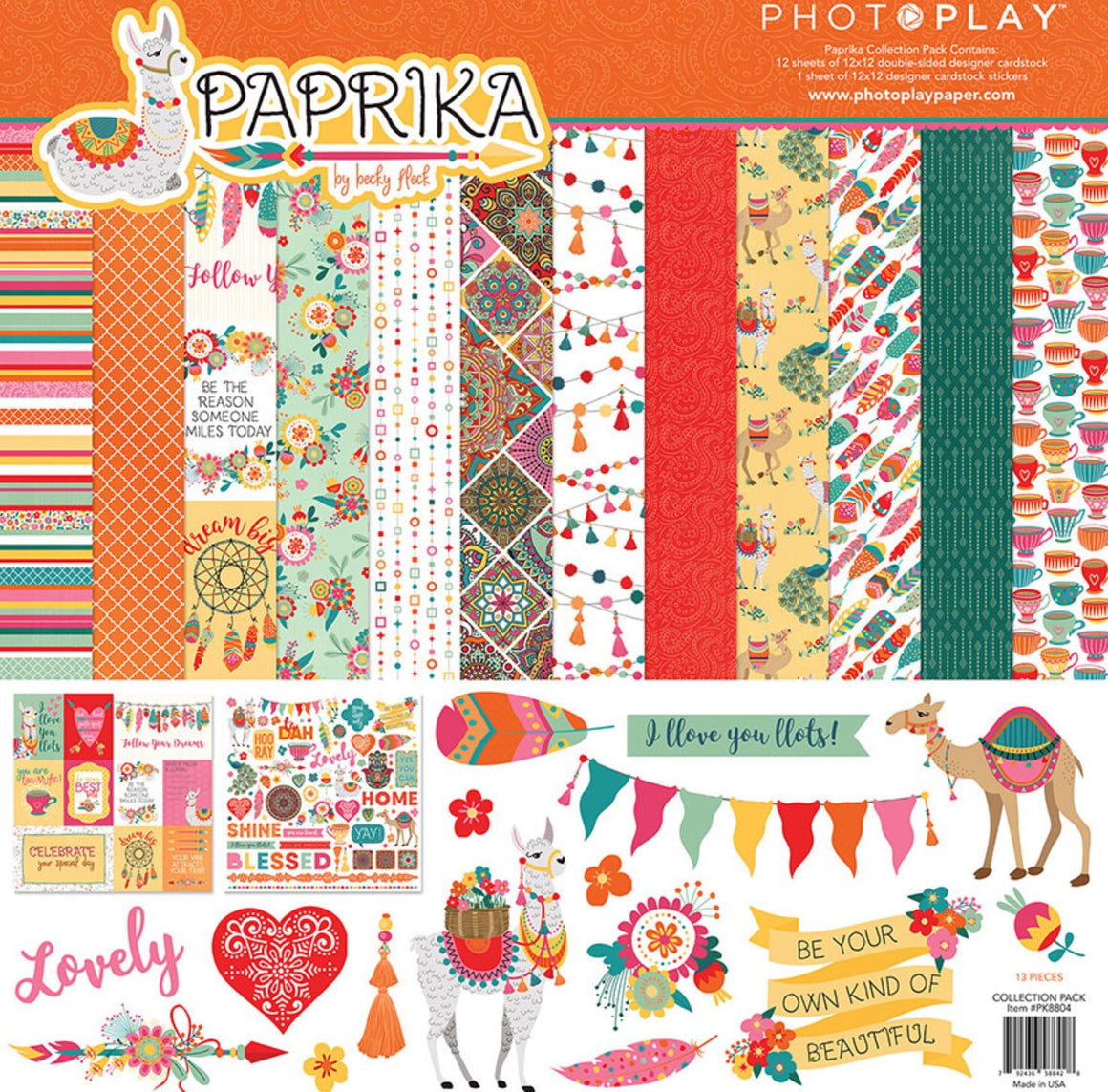 Photoplay 12x12 collection kit- Paprika