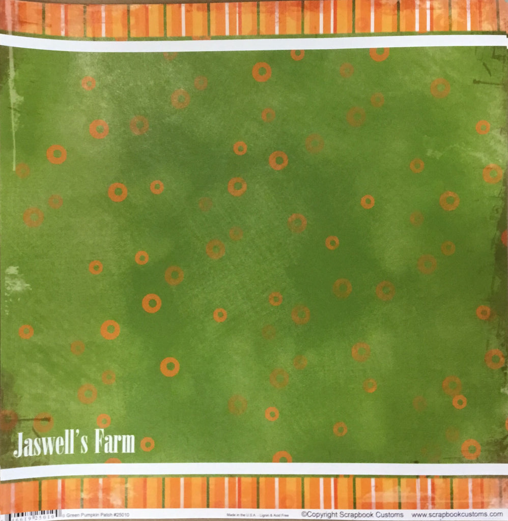 Jaswell's farm Green pumpkin patch paper