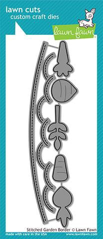 Lawn Fawn custom craft die- stitched garden border