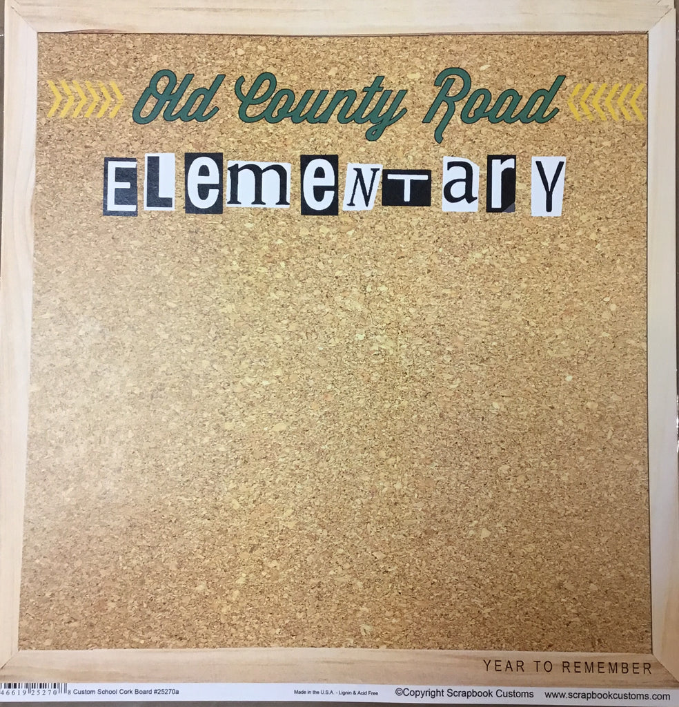 Old County Road School cork board paper