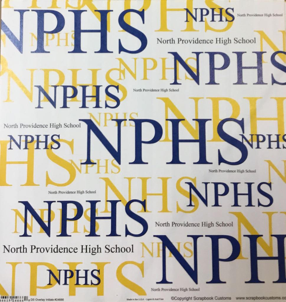North Providence High School DS overlay initials