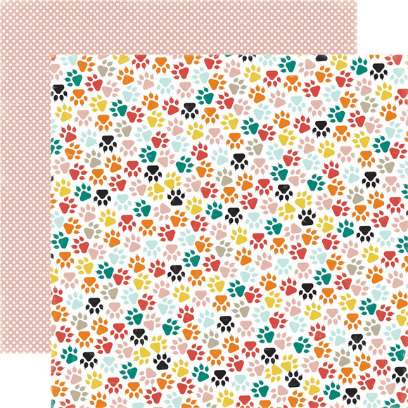 12x12 kitty paws single sheet