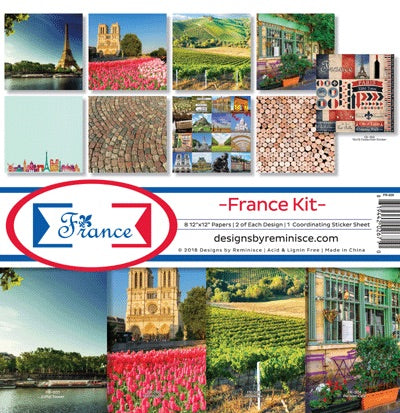 Designs by Reminisce- France 12x12 collection kit