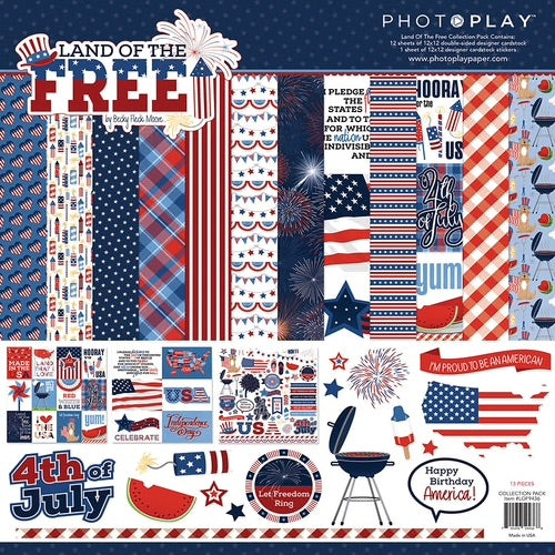 Photoplay 12x12 Land of the Free collection kit
