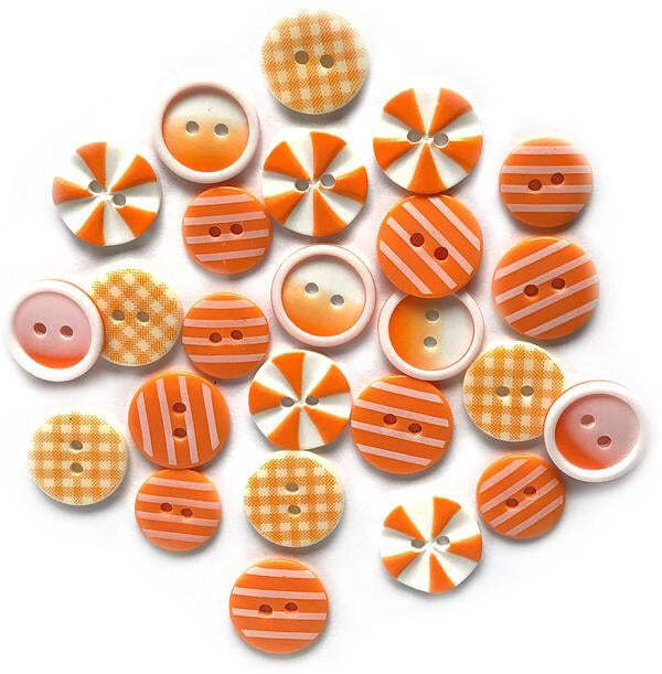 Buttons Galore printed buttons- Orange Slices