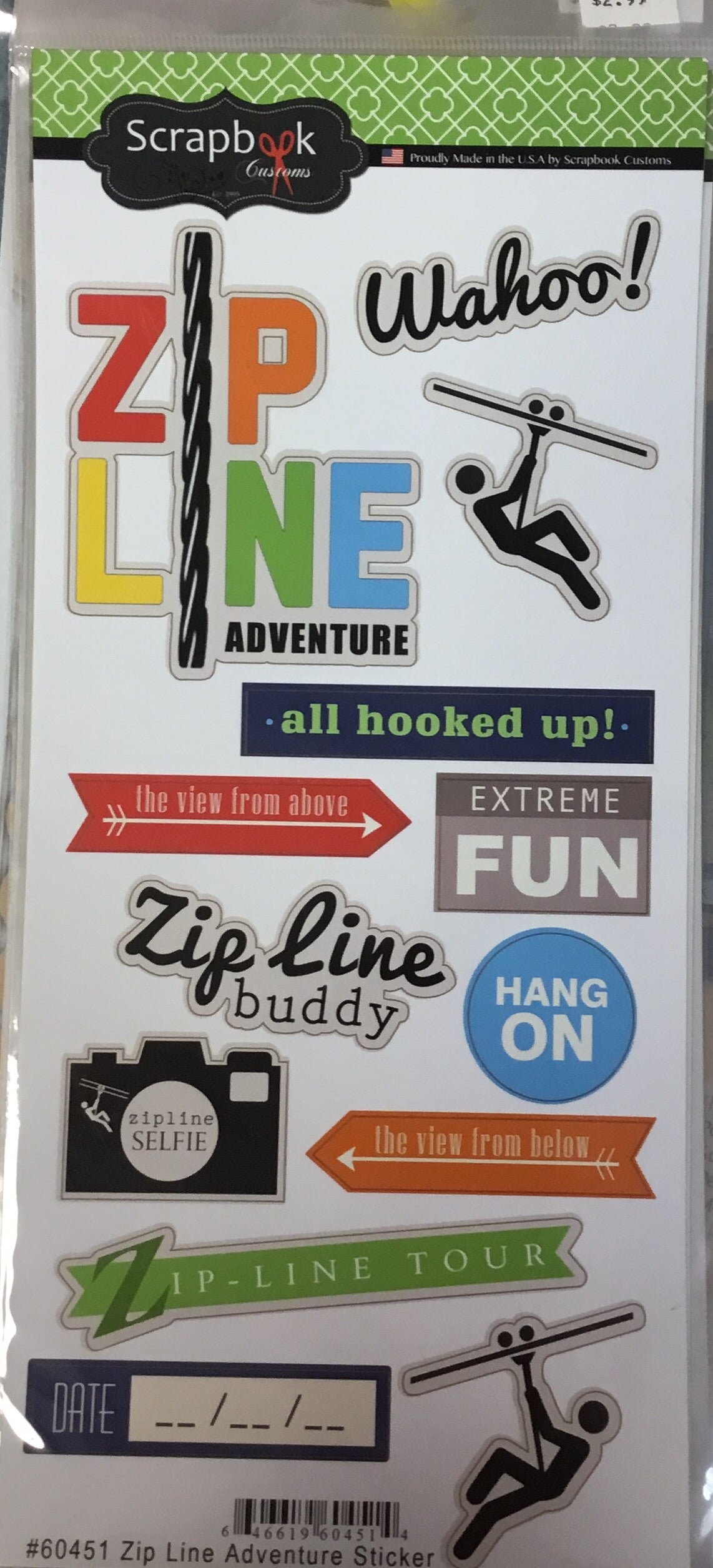 Zip line Adventure craft stickers