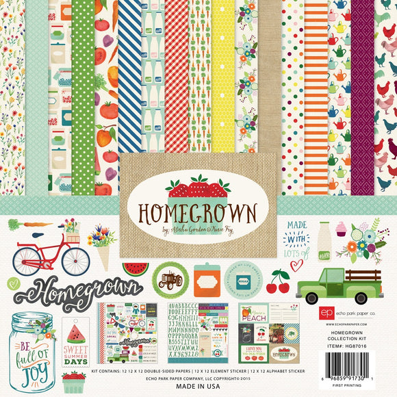 Echo Park 12x12 collection kit- Homegrown