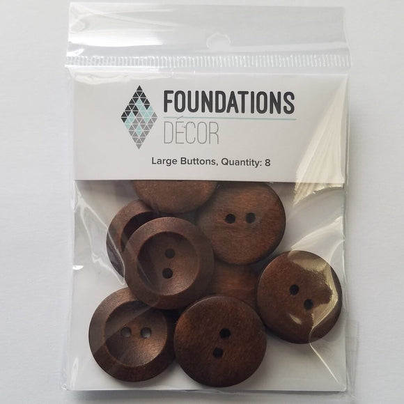 Foundations Decor Large Brown Buttons