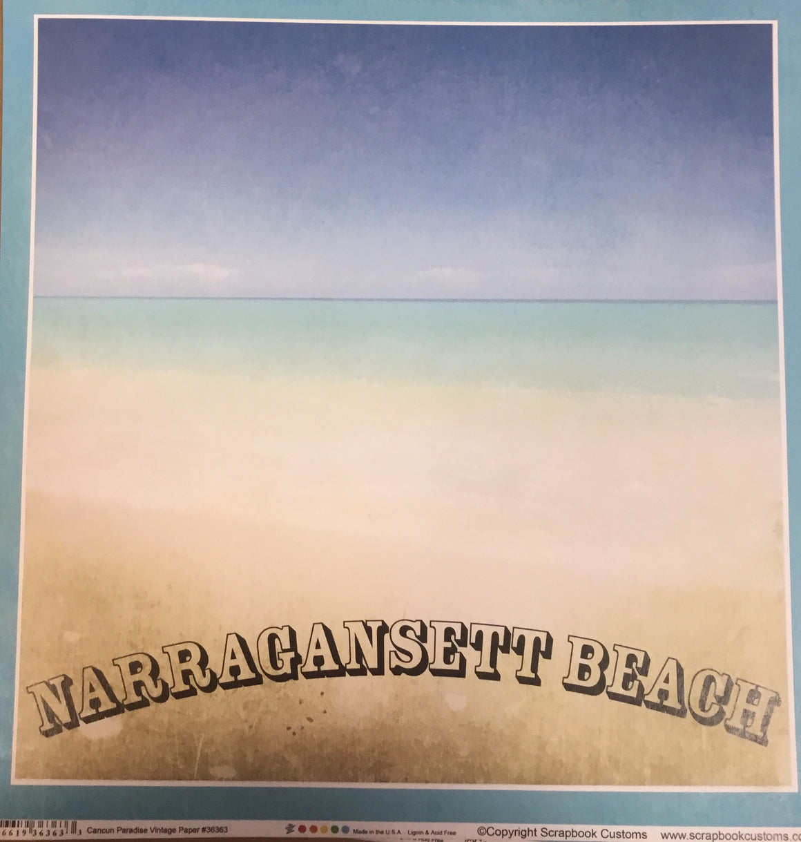 Narragansett 12x12 single sheet
