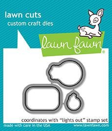 Lawn Fawn custom craft die- lights out