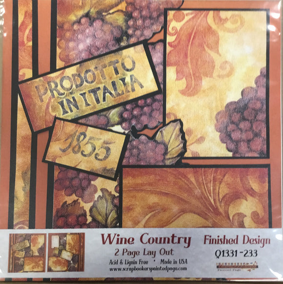 12x12 2 page layout Wine Country
