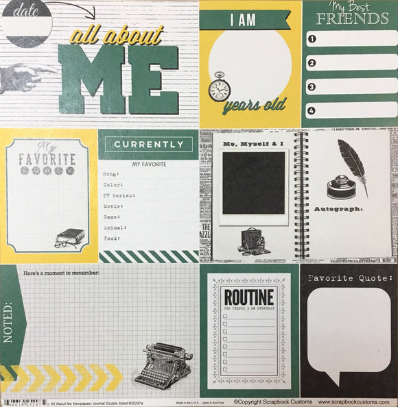 William Winsor Elementary School all about me newspaper journal DS paper