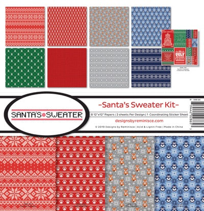 Santa's Sweater 12x12 collection kit