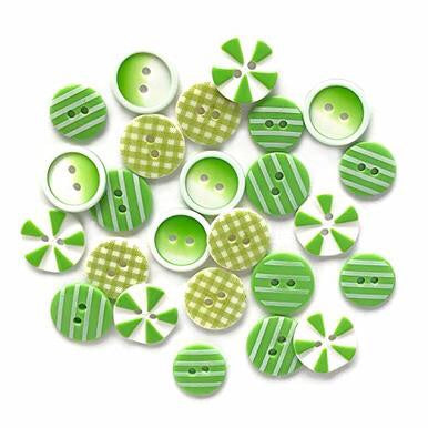 Buttons Galore printed buttons- Lime Lite