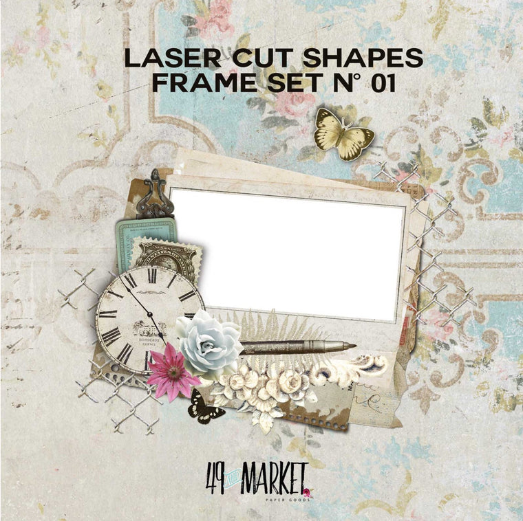 Laser cut shapes frame set no. 01