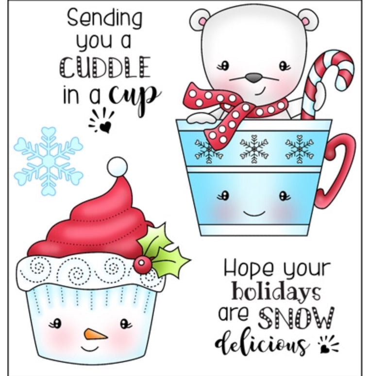 Darcie's Heart & Home clear stamps- Cuddle in a Cup