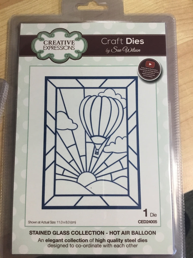 Creative Expressions Craft Dies - stained glass hot air balloon