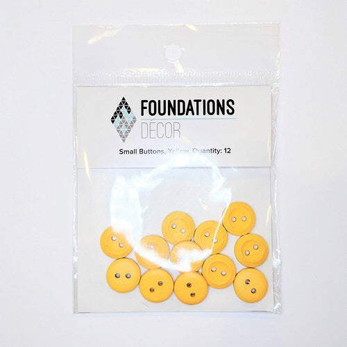 Foundations Decor Yellow Small Buttons