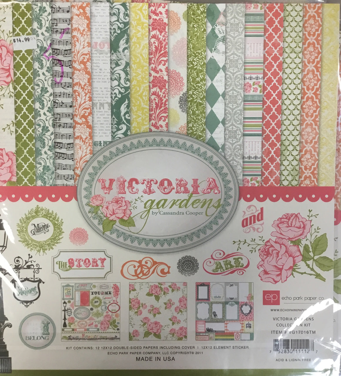 Echo Park 12x12 collection kit- Victoria Gardens
