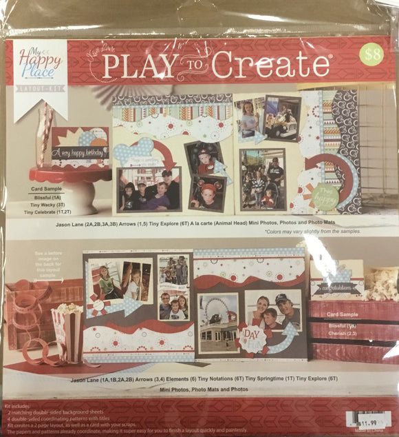 Kiwi Lane Play to create-  my happy place layout-kit