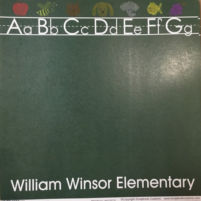 William Winsor Elementary School chalkboard paper