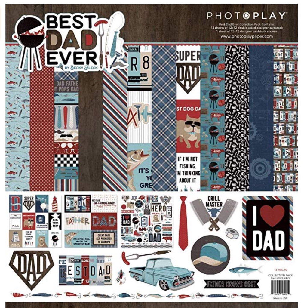 Photoplay 12x12 best dad ever collection kit
