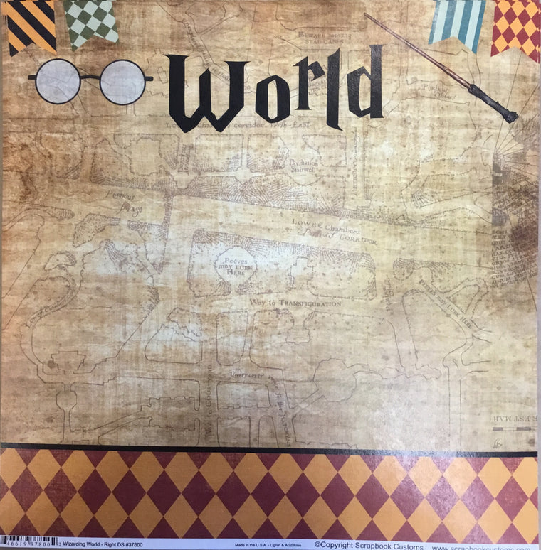 Wizarding World Right 12x12 single sheet